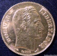 Monedas antiguas de América: 20 BOLIVARES 1911 ORO. 6,45 GRAMOS. 22KTS. Lote 265505949
