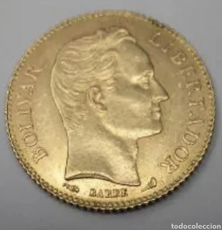 20 BOLIVARES 1910. ORO 6,45 GRAMOS. (Numismática - Extranjeras - América)