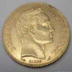 Monedas antiguas de América: 20 BOLIVARES 1910. ORO 6,45 GRAMOS.. Lote 265511114
