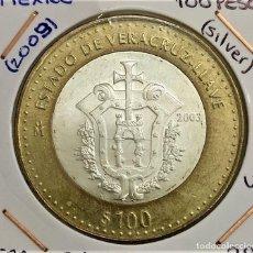 Moedas antigas da América: 2003 MEXICO (MEJICO) - 100 PESOS - VERACRUZ - LLAVE - S/C - ALUMINO, BRONCE Y PLATA. Lote 265543254