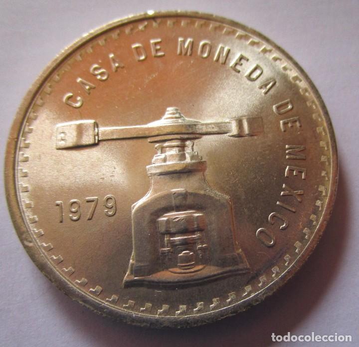 MEXICO . CASA DE LA MONEDA . PIEZA EN PLATA DE TAMAÑO GRANDE . FDC . CON TODO EL BRILLO ORIGINAL (Numismática - Extranjeras - América)