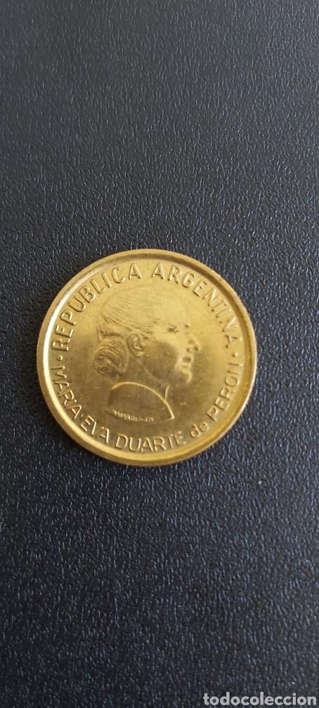 MONEDA ARGENTINA CONMEMORATIVA AÑO 1997 EVA DUARTE DE PERON (Numismática - Extranjeras - América)
