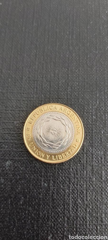 Monedas antiguas de América: Moneda de 2 pesos argentina año 2016 - Foto 3 - 267657084
