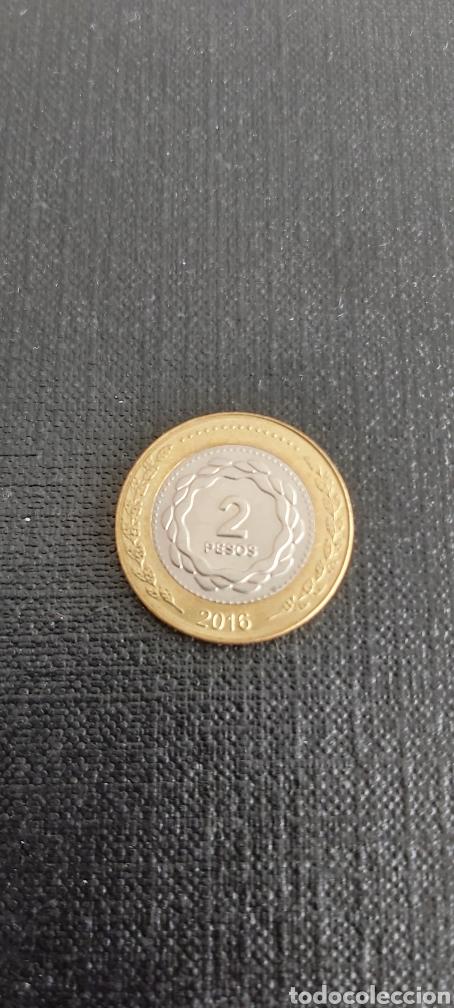 Monedas antiguas de América: Moneda de 2 pesos argentina año 2016 - Foto 4 - 267657084
