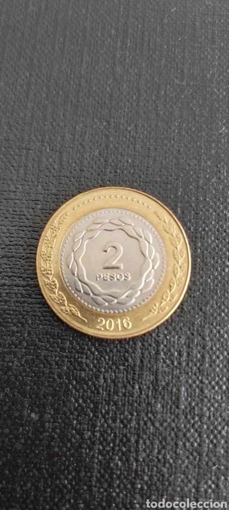 MONEDA DE 2 PESOS ARGENTINA AÑO 2016 (Numismática - Extranjeras - América)