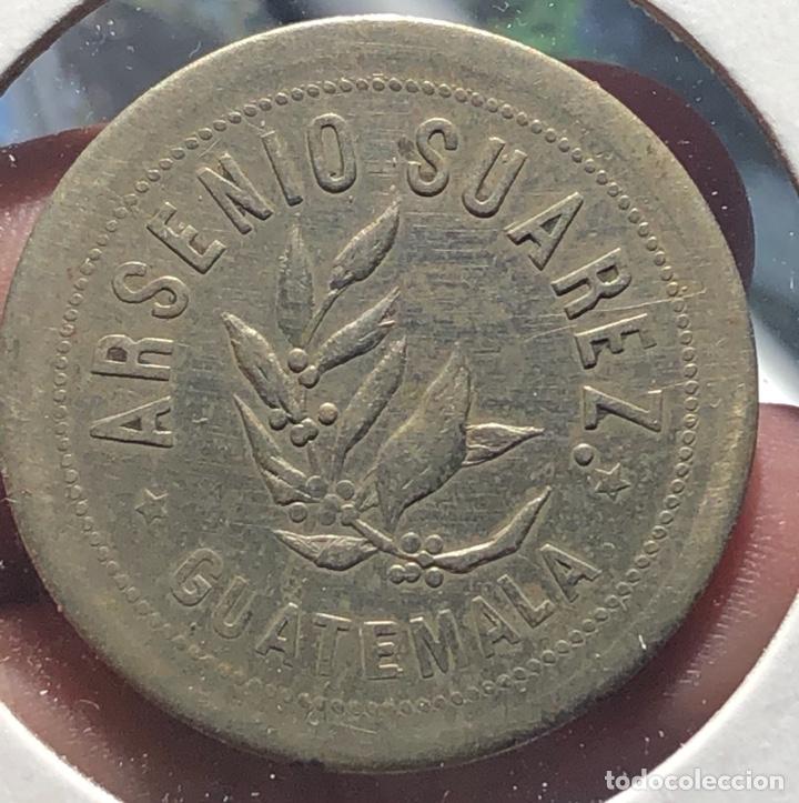 GUATEMALA FICHA DE FINCA 3 REALES FRANCISCO BUENA VISTA ARSENIO SUÁREZ (Numismática - Extranjeras - América)