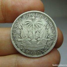 Monedas antiguas de América: 20 CÉNTIMOS. PLATA. REPÚBLICA DE HAITÍ - 1882. Lote 268595864