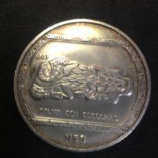 Monedas antiguas de América: MEXICO 5 PESOS PRECOLOMBINA SERIES PALMA CON COCODRILO SILVER COIN 1993. Lote 268715969