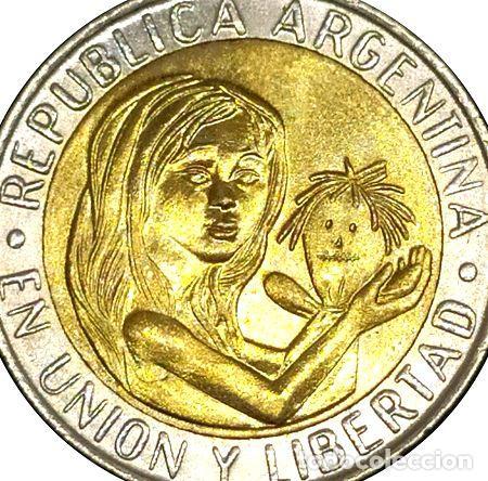 ARGENTINA MONEDA DE 1 PESO UNICEF ANO 1996 MA388 (Numismática - Extranjeras - América)