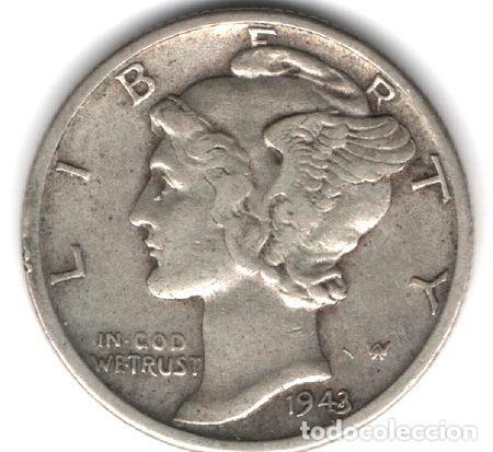 ESTADOS UNIDOS DIME 1943 S KM 140 REF 008 ED. 194 (Numismática - Extranjeras - América)