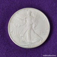 Monedas antiguas de América: MONEDA DE ESTADOS UNIDOS USA. ONZA PLATA PURA 31,1 GR. 1 DOLAR. 1990. LIBERTY AMERICAN EAGLE.. Lote 268798954