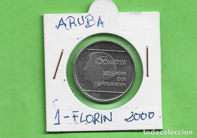 ARUBA. 1 FLORIN 2000. ACERO BAÑADO EN NÍQUEL. KM#5 (Numismática - Extranjeras - América)