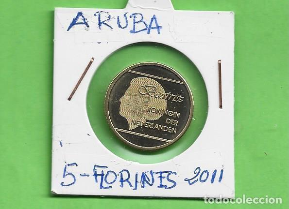 ARUBA. 5 FLORINES 2011. BRONCE CON ALUMINIO. KM#38 (Numismática - Extranjeras - América)