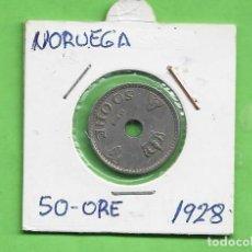Monedas antiguas de América: NORUEGA. 50 ORE 1928. CUPRONIQUEL. KM#386. Lote 268859964