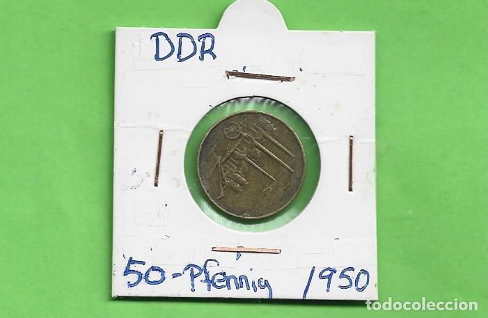 ALEMANIA DDR. 50 PFENNIG 1950. BRONCE CON ALUMINIO. KM#4 (Numismática - Extranjeras - América)