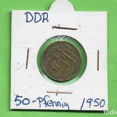 Monedas antiguas de América: ALEMANIA DDR. 50 PFENNIG 1950. BRONCE CON ALUMINIO. KM#4. Lote 268872389