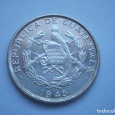 Monedas antiguas de América: 21SCD14 GUATEMALA 1948 1/4 QUETZAL DE PLATA. Lote 268901239