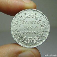 Monedas antiguas de América: 20 CENTAVOS. PLATA. REP. BOLIVIANA. POTOSÍ. 1880. Lote 269143243