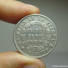 Monedas antiguas de América: 20 CENTAVOS. PLATA. REP. BOLIVIANA. POTOSÍ. 1876. Lote 269146588