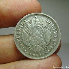 Monedas antiguas de América: 20 CENTAVOS. PLATA. REP. BOLIVIANA. POTOSÍ. 1882. Lote 269149208
