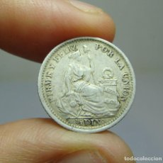 Monedas antiguas de América: 1/2 DINO. PLATA. REPUBLICA PERUANA - LIMA - 1901. Lote 269155613