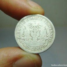 Monedas antiguas de América: 10 CÉNTIMOS. PLATA. REPÚBLICA DE HAITÍ - 1881. Lote 269156568