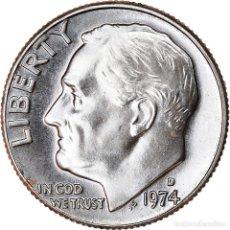 Monedas antiguas de América: [#740587] MONEDA, ESTADOS UNIDOS, ROOSEVELT DIME, DIME, 1974, U.S. MINT, DENVER, FDC. Lote 269175058