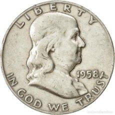 Monedas antiguas de América: [#428704] MONEDA, ESTADOS UNIDOS, FRANKLIN HALF DOLLAR, HALF DOLLAR, 1958, U.S. MINT. Lote 269176763