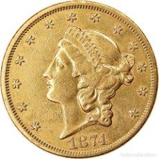 Monedas antiguas de América: [#854746] MONEDA, ESTADOS UNIDOS, LIBERTY HEAD, $20, DOUBLE EAGLE, 1874, U.S. MINT, SAN. Lote 269178893