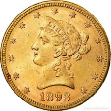 Monedas antiguas de América: [#863632] MONEDA, ESTADOS UNIDOS, CORONET HEAD, $10, EAGLE, 1893, U.S. MINT, PHILADELPHIA. Lote 269178978