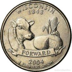 Monedas antiguas de América: [#773040] MONEDA, ESTADOS UNIDOS, WISCONSIN, QUARTER, 2004, DENVER, MBC, COBRE - NÍQUEL. Lote 269179563