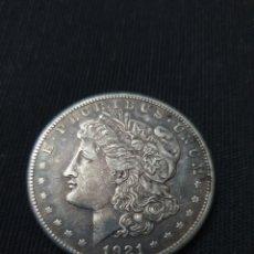 Monedas antiguas de América: ANTIGUA MONEDA PLATA ONE DOLLAR MORGAN 1921. Lote 269307728
