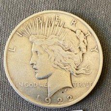 Monedas antiguas de América: UN DOLAR , ONE DOLLAR , MONEDA DE PLATA , 1922 . LIBERTY. Lote 270529988