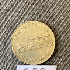 Monedas antiguas de América: BUENOS AYRES , TRAMWAY CENTRAL , MONEDA DE PLATA , LACROZE , TOKEN. Lote 270533048