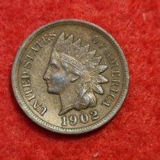 Monedas antiguas de América: MONEDA 1 CENTAVO CENTIMO INDIO 1902 MBC++ ORIGINAL C3. Lote 270621828