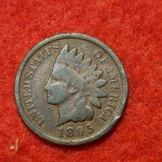 Monedas antiguas de América: MONEDA 1 CENTAVO CENTIMO INDIO 1895 MBC ORIGINAL C3. Lote 270622008