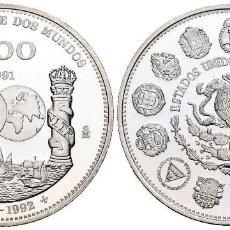 Monedas antiguas de América: MÉXICO 100 PESOS PLATA 1991 PROOF ENCUENTRO ENTRE DOS MUNDOS 1992. Lote 295985068