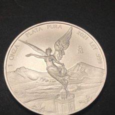 Monedas antiguas de América: MONEDA LINGOTE ONZA DE PLATA PURA ALEGORÍA 2021 MEXICO. Lote 275134043