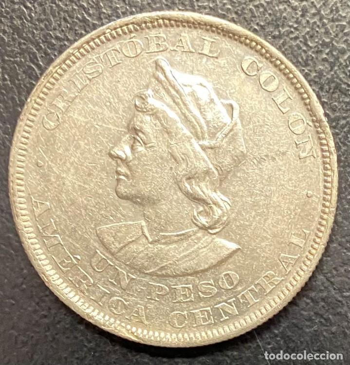 EL SALVADOR, MONEDA DE PLATA DE 1 PESO, AÑO 1893 (Numismática - Extranjeras - América)