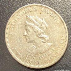 Monedas antiguas de América: EL SALVADOR, MONEDA DE PLATA DE 1 PESO, AÑO 1908. Lote 275485238