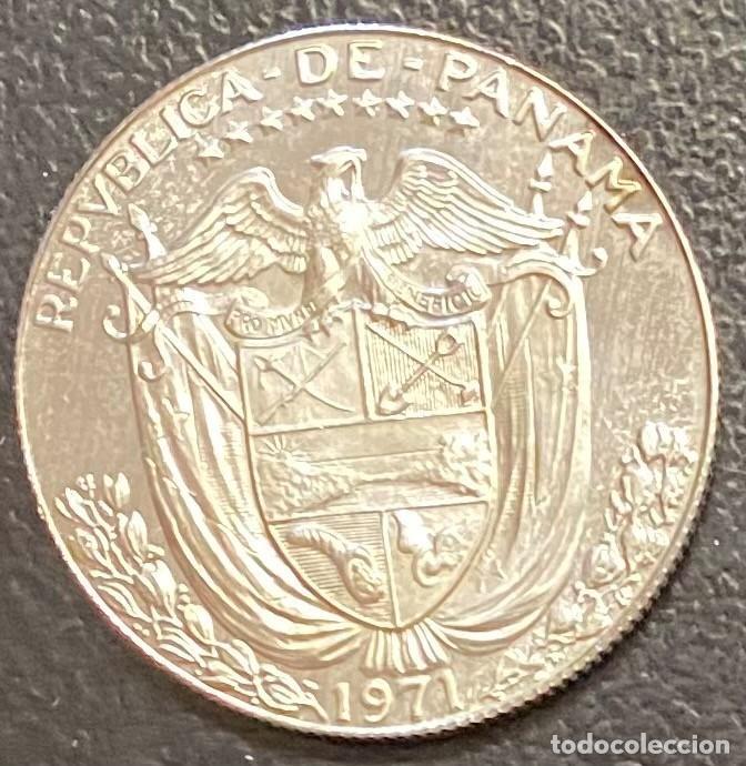 Monedas antiguas de América: PANAMÁ,MONEDA DE PLATA DE 1/2 BALBOA DEL AÑO 1971 - Foto 2 - 275488243