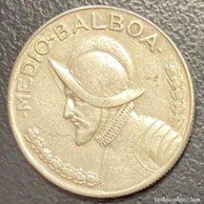 Monedas antiguas de América: PANAMÁ,MONEDA DE PLATA DE 1/2 BALBOA DEL AÑO 1967. Lote 275490058