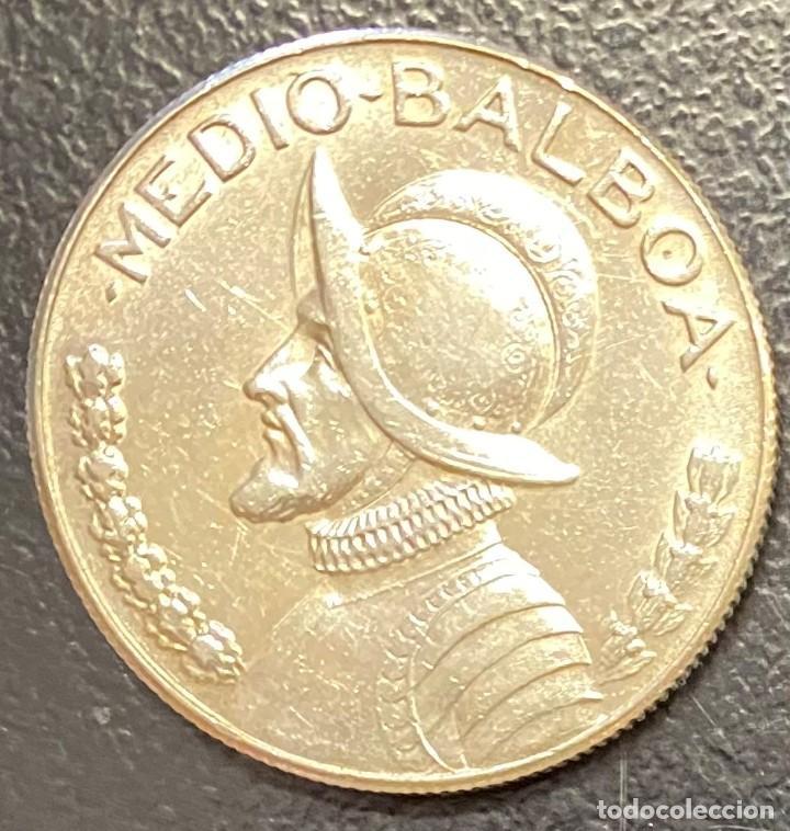 PANAMÁ,MONEDA DE PLATA DE 1/2 BALBOA DEL AÑO 1968 (Numismática - Extranjeras - América)