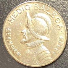 Monedas antiguas de América: PANAMÁ,MONEDA DE PLATA DE 1/2 BALBOA DEL AÑO 1968. Lote 275490403