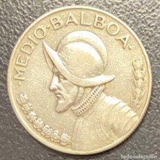Monedas antiguas de América: PANAMÁ,MONEDA DE PLATA DE 1/2 BALBOA DEL AÑO 1930. Lote 275491783