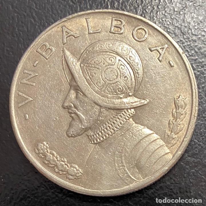 PANAMÁ, MONEDA DE PLATA DE 1 BALBOA, DEL AÑO 1934 (Numismática - Extranjeras - América)