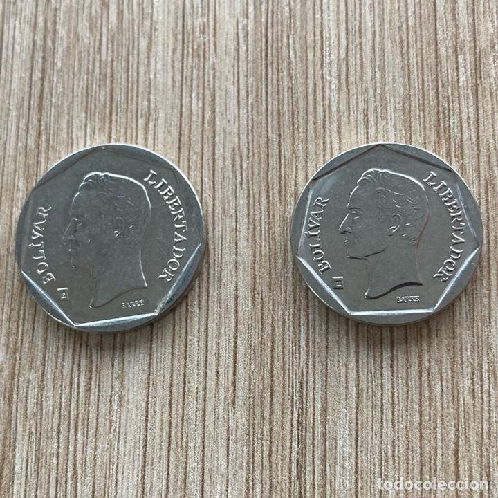 Monedas antiguas de América: Lote 50 y 100 bolívares Venezuela 2002 - Foto 2 - 275594378