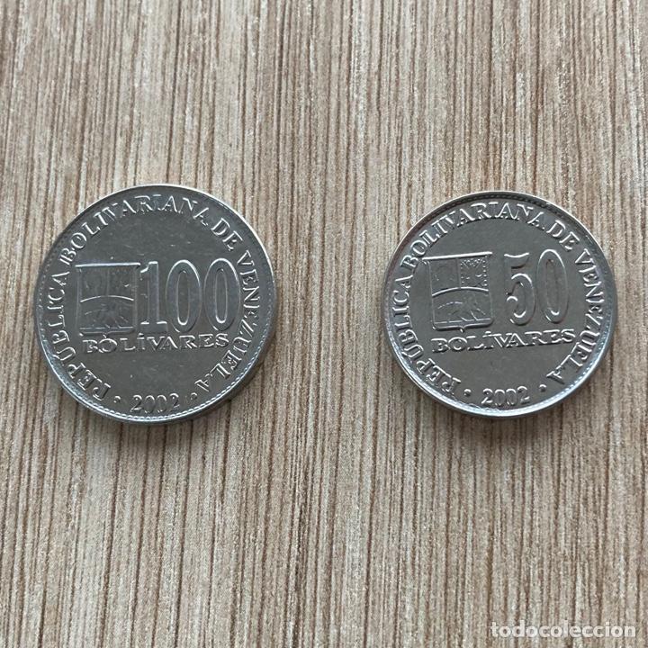 LOTE 50 Y 100 BOLÍVARES VENEZUELA 2002 (Numismática - Extranjeras - América)