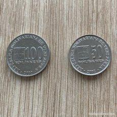 Monedas antiguas de América: LOTE 50 Y 100 BOLÍVARES VENEZUELA 2002. Lote 275594378