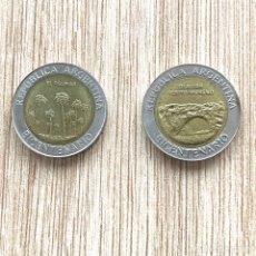 Monedas antiguas de América: LOTE 2 MONEDAS ARGENTINA 1 PESO 2010 CONMEMORATIVA. Lote 275595108